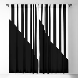 MIDCENTURY DESIGN (BLACK-WHITE) Blackout Curtain