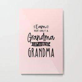 Cute Great Grandma Funny Great Grandma Gift Metal Print
