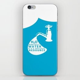 WATER CONSERVATION iPhone Skin