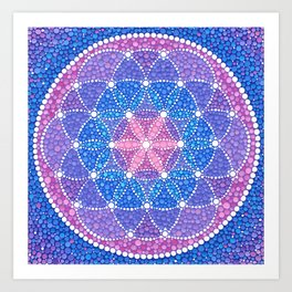Starry Flower of Life Art Print