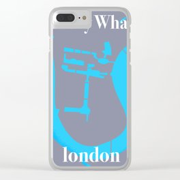 canary wharf, london map travel poster Clear iPhone Case