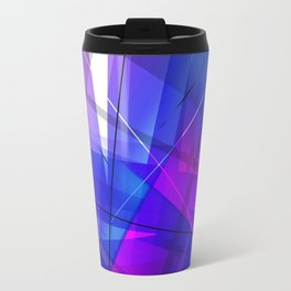 Transparent Shapes Blue and Pink Geometric Abstract Art Travel Mug