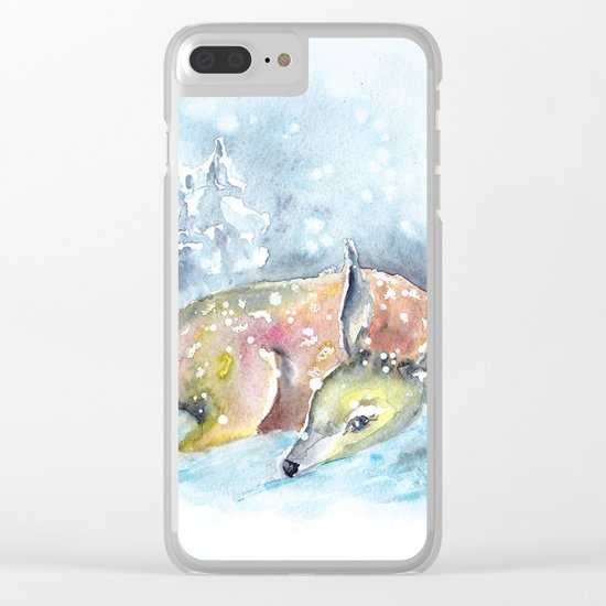 Winter animal #14 Clear iPhone Case