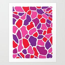 Giraffe Print Art Print