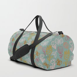 Bee with Flowers Duffle Bag