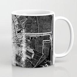 Dublin Map 1797 Vintage Reverse Black and White Coffee Mug
