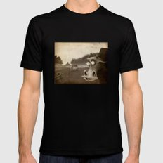 a morning without sun MEDIUM Black Mens Fitted Tee