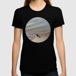 Low tide swirl Seascape T-shirt