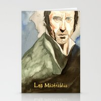 les mis Stationery Cards featuring Les Mis by Paxelart