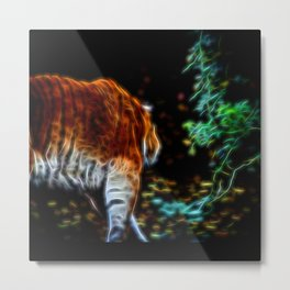 Tiger Fractal animal Fractal tiger Metal Print