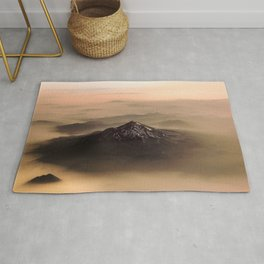 The West is Burning - Mt Shasta - nature photography Rug