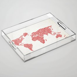 Love, You Are My World Acrylic Tray