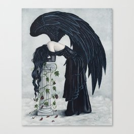 Despair Gothic Angel Canvas Print