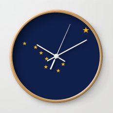 Alaska State Flag - Authentic version Wall Clock