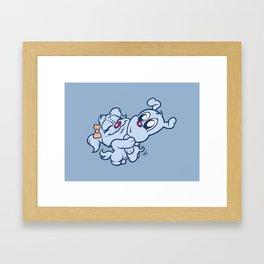 Luna & Lolli Blue - Hugging Framed Art Print