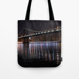 Manhattan Bridge night 1 Tote Bag