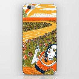 Dorothy in the Poppy Field iPhone Skin