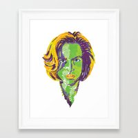 scully Framed Art Prints featuring Scully by Sam Del Valle