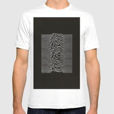 Unknown Pleasures Mens Fitted Tee MEDIUM White