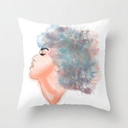 Watercolor Woman Throw Pillow