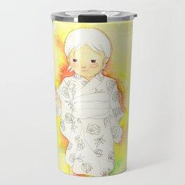 kimono girl rainbow Travel Mug