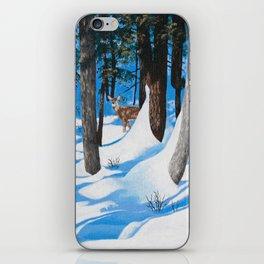 Deer in the woods iPhone Skin