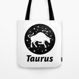 Taurus Zodiac Sign Tote Bag