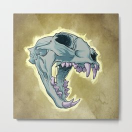 Tiger Skull Metal Print