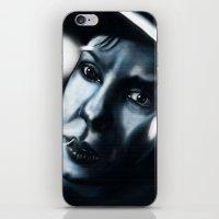sandra dieckmann iPhone & iPod Skins featuring Sandra bullock in Gravity by Jamie Briggs