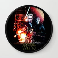 starwars Wall Clocks featuring StarWars / DoctorWho by thedrunknown