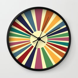 Sun Retro Art II Wall Clock