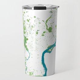 Philadelphia Map - Green Spaces Philly Parks Travel Mug