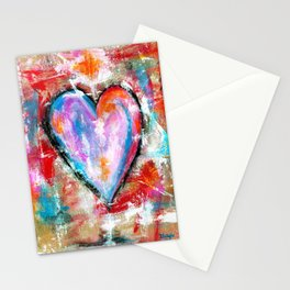 Reckless Heart, Abstract Painting Stationery Cards