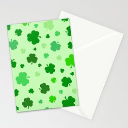 Green Shamrocks Stationery Cards