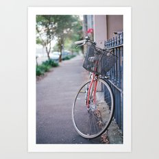 I've got a bike, you can ride it if you like...it's got a basket... Art Print
