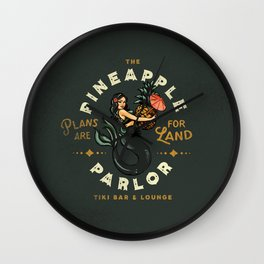 The Pineapple Parlor: Plans Are For Land Wall Clock