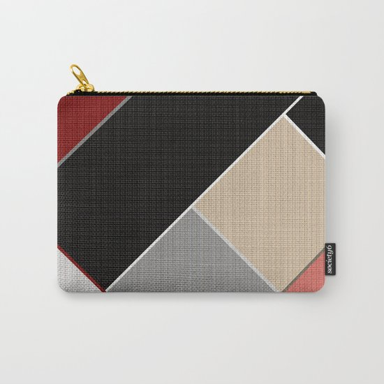Brown grey abstract pattern . Carry-All Pouch