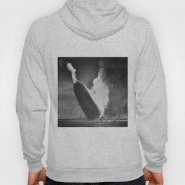 1937 New Jersey Crash of the Zeppelin LZ 129 Hindenburg black and white historical photograph Hoody