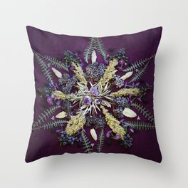 Nature Mandala: September Throw Pillow