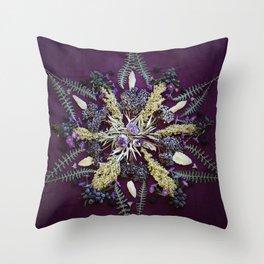 Nature Mandala: September Throw Pillow