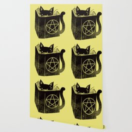 Witchcraft Cat Wallpaper