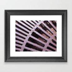 Violet Grate Framed Art Print