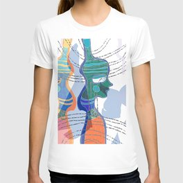 Girl Silhouette With Shapes VI T-shirt