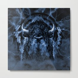 SPIRIT BUFFALO Metal Print
