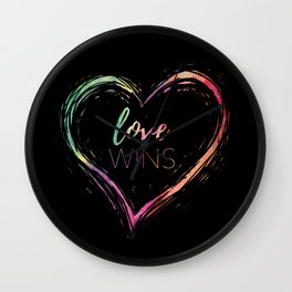 Love Wins Rainbow Wall Clock
