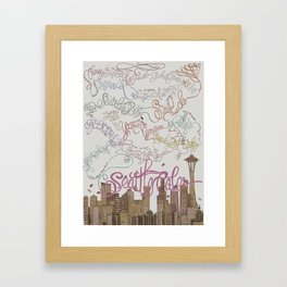Coffee Wonderland Framed Art Print