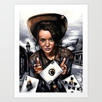 tyler oakley Art Prints featuring Annie Oakley by LQCincinnatus