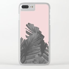 Blush Banana Leaves Dream #4 #tropical #decor #art #society6 Clear iPhone Case