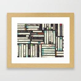 Cassettes Framed Art Print