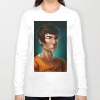 percy jackson Long Sleeve T-shirts featuring Percy Jackson by spookzilla